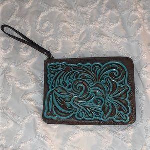 Wristlet turquoise